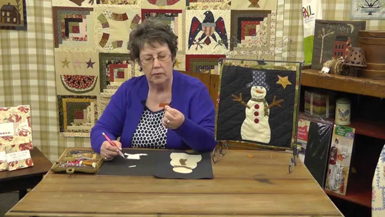 How to Applique a Snowman Quilt Block with Jan Patek- Block 11 ... : snowman quilt patterns applique - Adamdwight.com