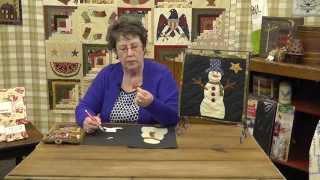 How To Applique A Snowman Quilt Block With Jan Patek- Block 11- Calendar Quilt Botm