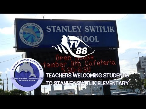 Teachers Welcoming Students to Stanley Switlik Elementary School in Marathon