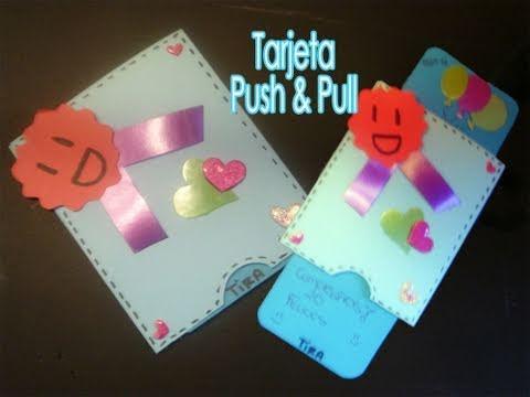 Tarjeta push and pull manualidades para regalar youtube - Manualidades para hacer tarjetas ...