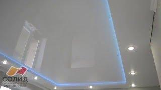 видео Двухуровневые натяжные потолки с подсветкой. Цена