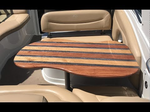 Boat Table -  Sapele & Oak Epoxy Resin