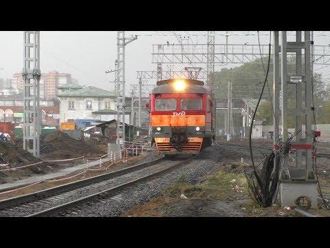 Электропоезд ЭД2Т-0043 станция Одинцово