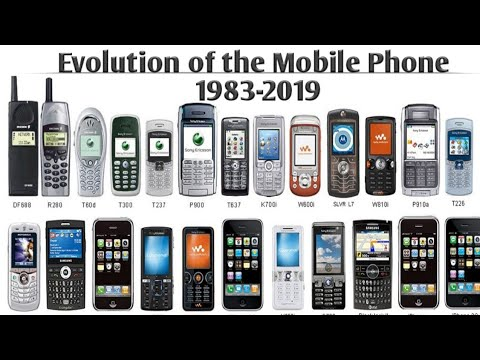 Evolution of the Mobile Phone 1983-2019 - YouTube  Cell Phone Evolution Years