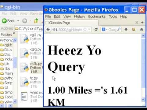 Python CGI Miles to Kilometers 2 of 2