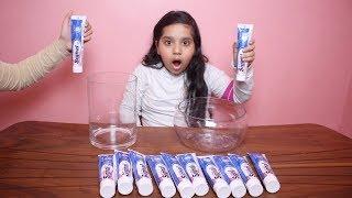 تحدي لا تختار معجون أسنان السلايم الخاطئ !!! Don't Choose the Wrong Toothpaste Slime Challenge