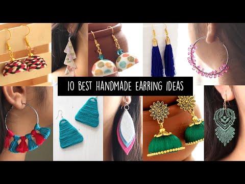 10 Best Handmade Earring Ideas | DIY Jewellery Making