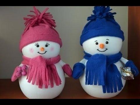 Как сделать снеговика из ваты фото 593