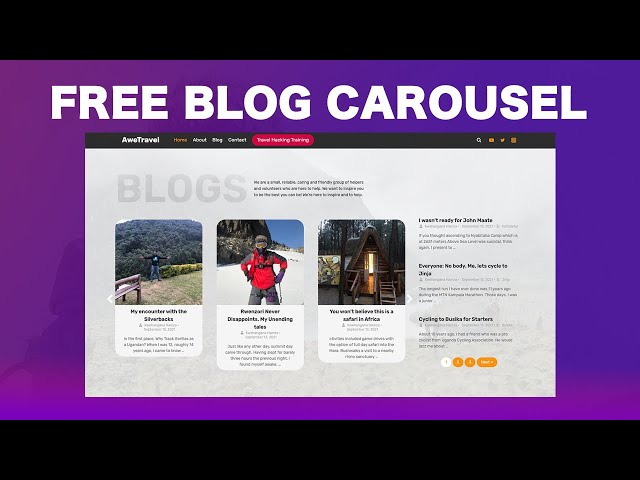 How to Create a Blog Carousel using Elementor (FREE)