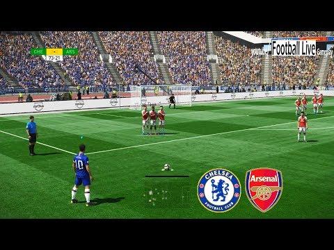 PES 2019   Chelsea vs Arsenal   E.Hazard Free Kick Goal   Gameplay PC