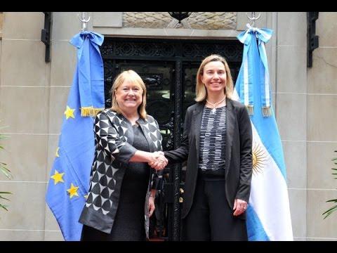 Conferencia de prensa de Malcorra y Mogherini