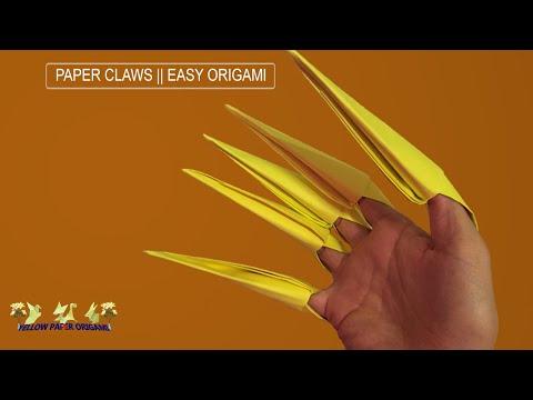 Very Easy Origami Paper Claws - DIY Tutorial