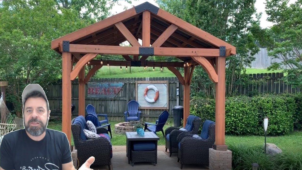 Gazebo Brookdale Backyard Discovery - Part 2/Final - YouTube on Backyard Discovery Pavilion id=76216