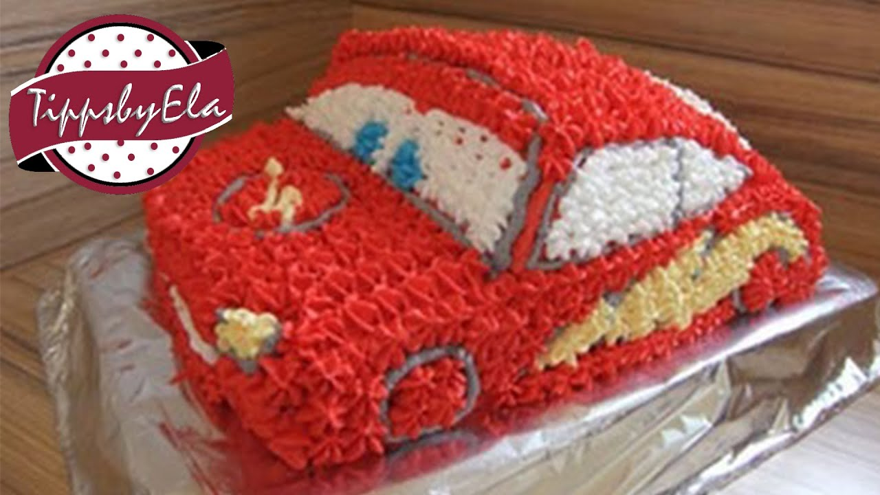How to make a cars cake Lightning Mcqueen YouTube
