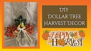 DIY Dollar Tree Harvest Decor