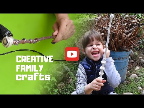 How To Make Harry Potter Wands | DIY Wizard Magic Wands | Creative Family Crafts