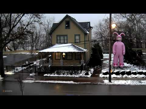 Don Action Jackson - Huge Inflatable Bunny Suit Ralphie Outside Christmas Story House