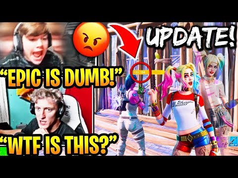 STREAMERS REACT TO *HUGE* BUILDING NERF! LAUNCHPADS *BACK* & NEW SKINS! (FORTNITE UPDATE)
