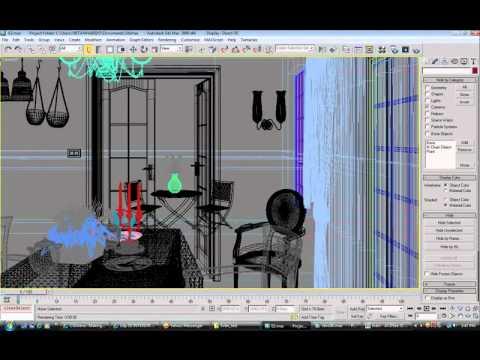 video hướng dẫn vray- 3ds max (trailer 10min) - dựng nội thất, hoàn thiện nội thất
