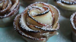 Baked Apple Roses (Vegan) || How to Make Rose-Shaped Apple Tarts
