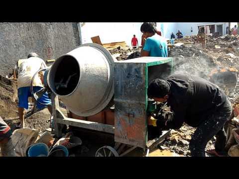 Cara Menyalakan Mesin Molen Beton Mini ( Mesin pengaduk / Mixer Semen )