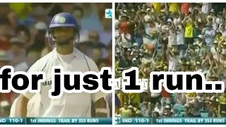 Rahul dravid gets standing avation from Australians for just one run...