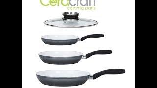 Ceracraft Ceramic Pans- 4 Piece Set (Induction Compatible)