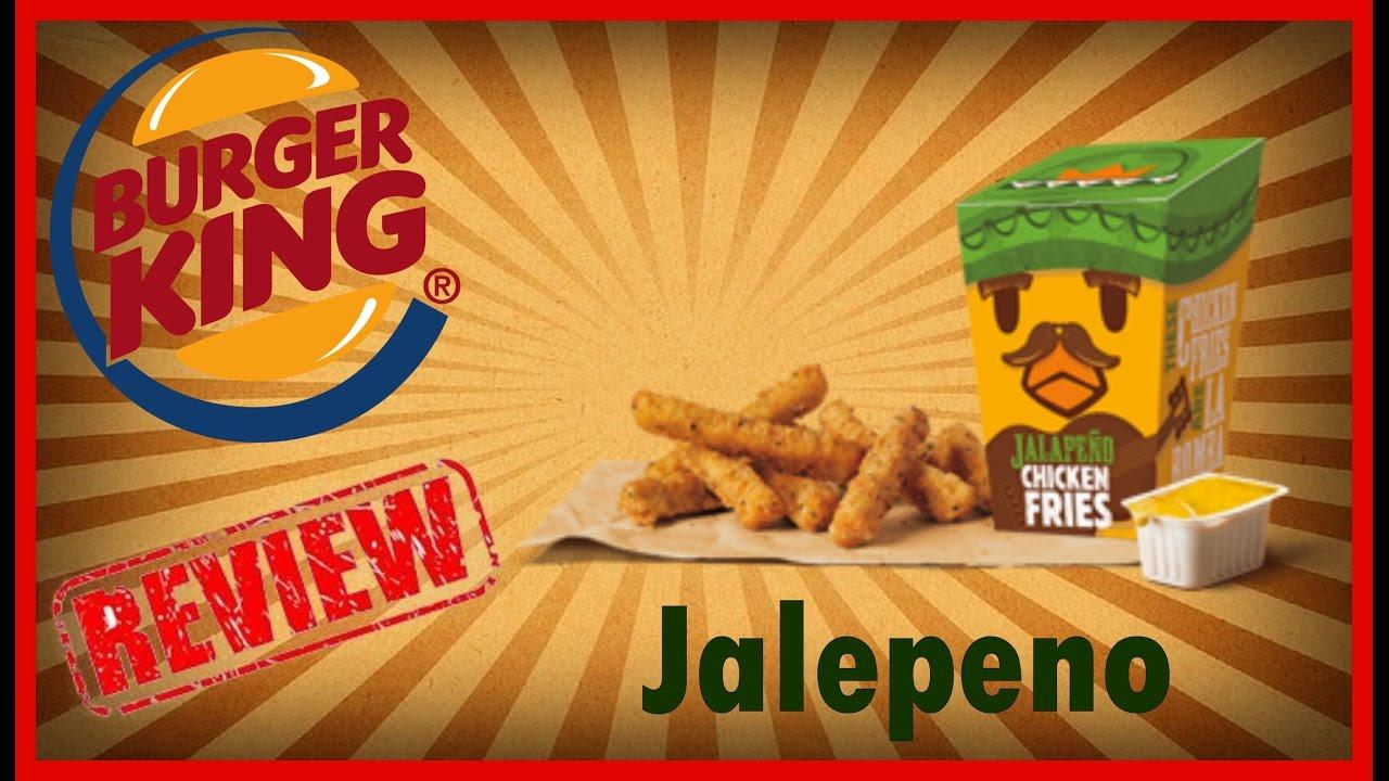 Burger King New Jalapeno Chicken Fries Review November 28th 2016