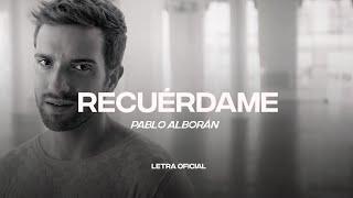Pablo Alborán - Recuérdame (Lyric Video) | CantoYo