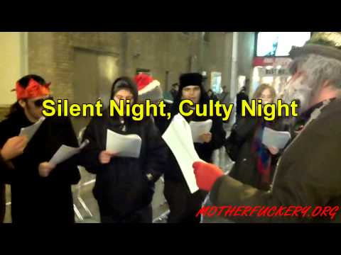 NYC Anonymous Anti-Scientology Christmas Caroling Event