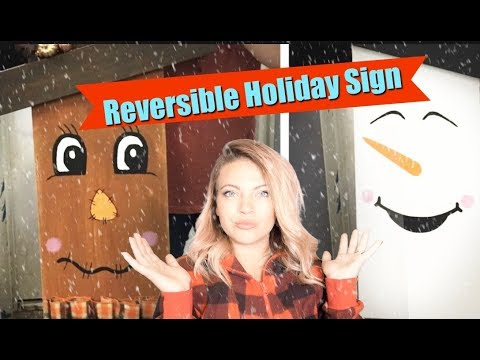 DIY Painted Holiday Fall and winter Signs