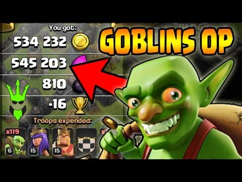 GOBLINS ARE OP!! - TH9 EASY Farming - Clash of Clans - Cheapest Farming army