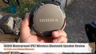 IGIDIA Waterprooof IPX7 Wireless Bluetooth Speaker Review