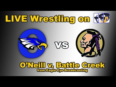 O'Neill High School v. Battle Creek Wrestling Dual - LIVE from O'Neill, Nebraska