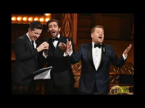 Jake Gyllenhaal & Sean Hayes Sing 'A Whole New World' for Tony Awards Commercial Karaoke! (Video)