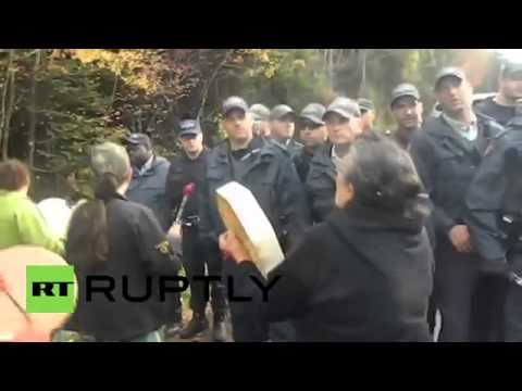 Canada  Anti fracking protest turns violent