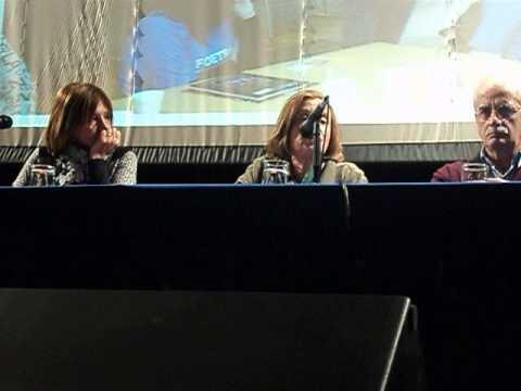 Susana Sanz en FOETRA junto a Jorge Taiana y Mónica Ingradivi
