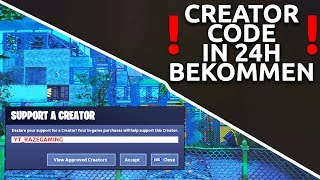 SO really *EVERYONE* gets a CREATOR CODE and CUSTOM GAMES in 24H !🔥 | Fortnite Tutorial