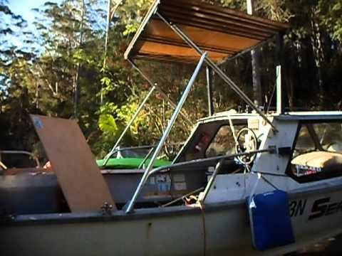 make a cheap boat aluminium hardtop DIY Part 7