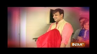 Vivek Oberoi welcomes Lord Ganesha to his home