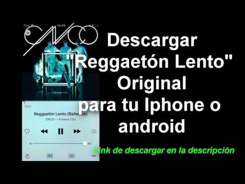 Descargar canción Reggaetón lento