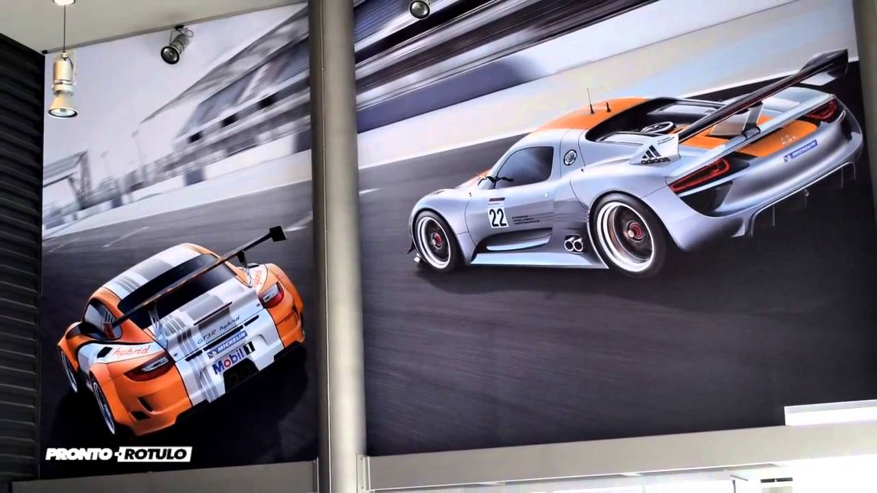 Decorar Pared Porche Wall Wrapping Centro Porsche Barcelona Gigantografias By Pronto Rotulo Since 1993