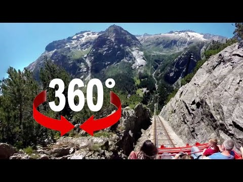 360° ride | Gelmerbahn | Europe's steepest funicular
