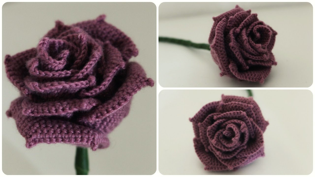 Häkelrose Diy Crochet Rose Eng Sub Youtube