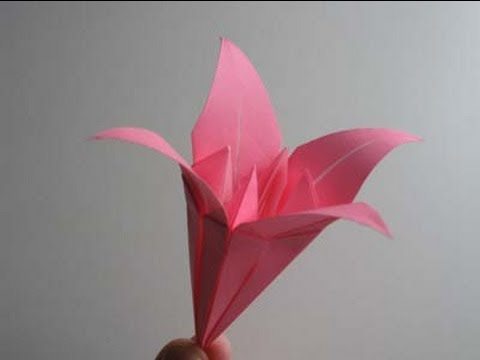 Origami Lily - YouTube
