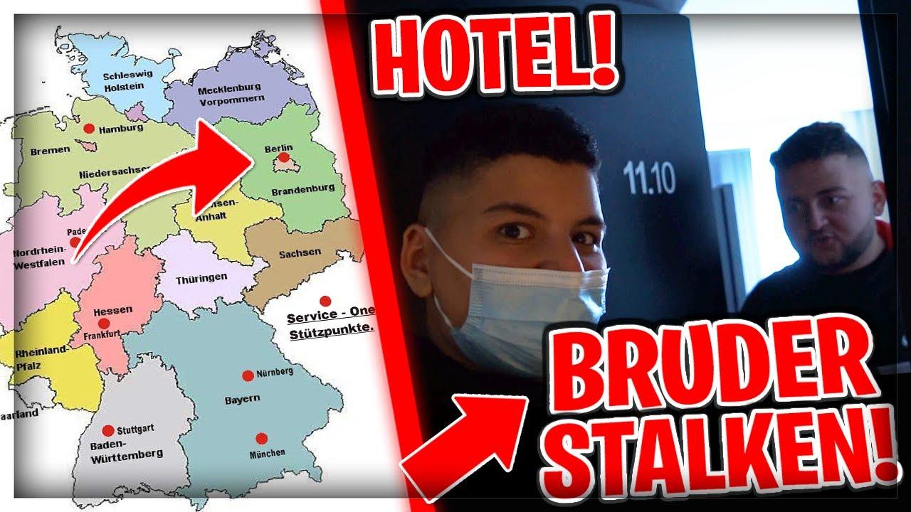 😂ICH STALKE *24 STUNDEN* MEINEN BRUDER! (Bis nach Berlin!)🤣| Can Wick