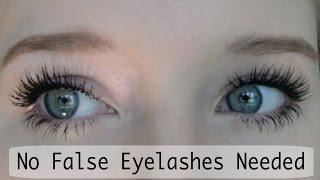 False Eyelash Effect Using Just Mascara