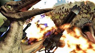 SUPER PTERODACTYL vs 100 T-REX - Beast Battle Simulator Gameplay | Pungence