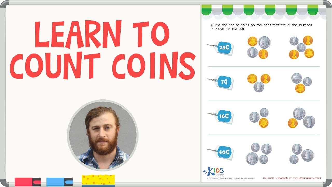 How to Count Coins - Counting Coins Worksheets - YouTube [ 720 x 1280 Pixel ]