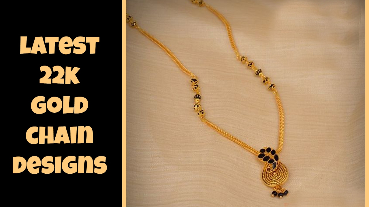 Latest 22k Gold Chain Designs - YouTube